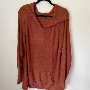 TORRID Burnt Orange Pullover Sweater Fuzzy Size 3X PLUS